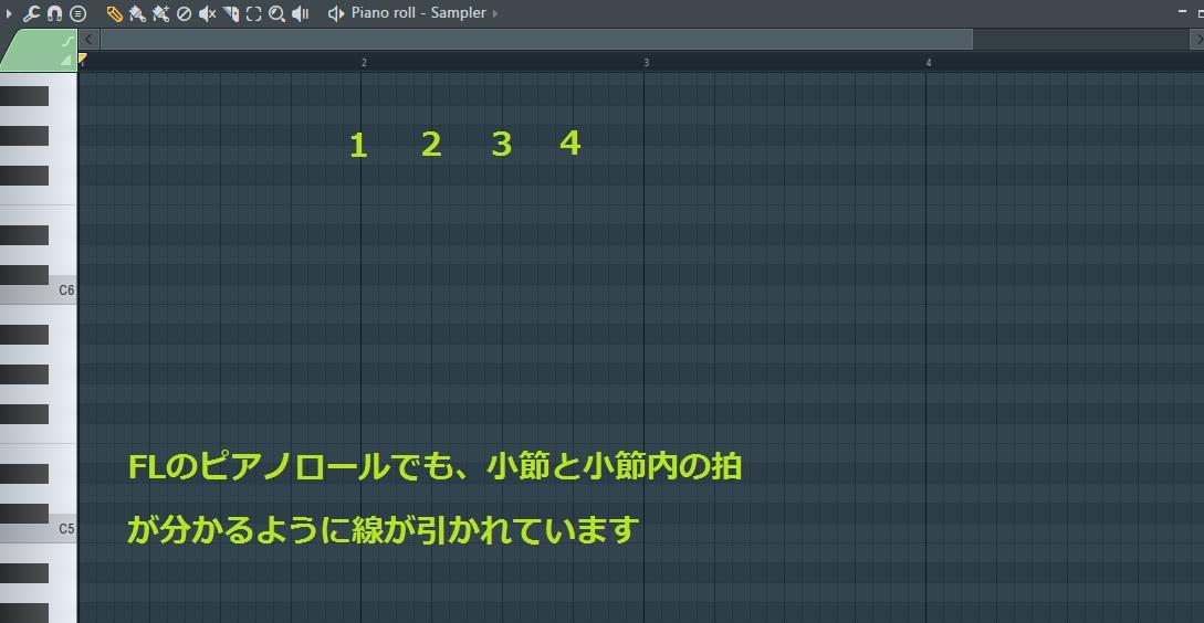 4/4ピアノロールFL