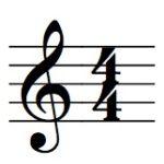 ト音記号と拍子記号