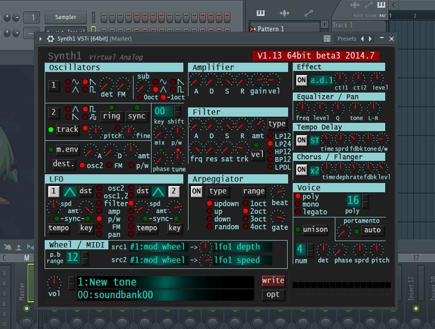 Synth1立ち上げ FL