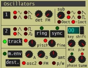 Synth1のオシレーター