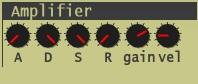 Synth1のアンプ